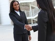 black woman interviweing for job